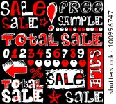 total sale  crazy doodles... | Shutterstock . vector #100996747
