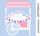 candy cart vector illustration... | Shutterstock .eps vector #1009980427