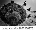 summer carnival swing ride  ... | Shutterstock . vector #1009980973