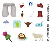 country scotland cartoon icons... | Shutterstock .eps vector #1009985827