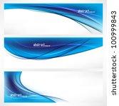 eps10 vector set of three blue... | Shutterstock .eps vector #100999843