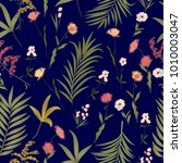 seamless pattern of tropical... | Shutterstock .eps vector #1010003047