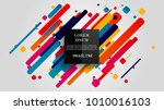 vector  abstract geometric... | Shutterstock .eps vector #1010016103