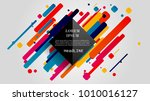 vector  abstract geometric... | Shutterstock .eps vector #1010016127