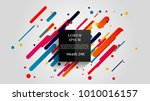vector  abstract geometric... | Shutterstock .eps vector #1010016157