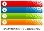 set of colorful pixel banners... | Shutterstock .eps vector #1010016787