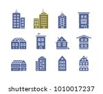 collection of home and house... | Shutterstock .eps vector #1010017237