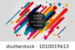 vector  abstract geometric... | Shutterstock .eps vector #1010019613
