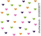 colorful grunge heart symbols... | Shutterstock .eps vector #1010033077