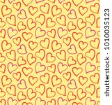 hearts seamless pattern on the... | Shutterstock .eps vector #1010035123