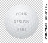 vector realistic golf ball icon.... | Shutterstock .eps vector #1010041117