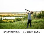picture of boy wearing pith...   Shutterstock . vector #1010041657