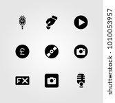 buttons vector icon set.... | Shutterstock .eps vector #1010053957