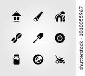 garden vector icon set. shovel  ...