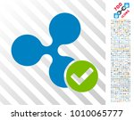 ripple valid pictograph with... | Shutterstock .eps vector #1010065777