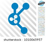 ripple connect nodes pictograph ... | Shutterstock .eps vector #1010065957