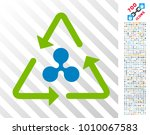 ripple recycling icon with 700... | Shutterstock .eps vector #1010067583