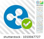 ripple coin valid icon with 7... | Shutterstock .eps vector #1010067727