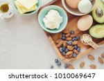 keto  ketogenic diet   low carb ... | Shutterstock . vector #1010069647