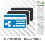 ripple banking cards pictograph ... | Shutterstock .eps vector #1010070817