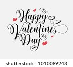 hand lettering happy valentines ... | Shutterstock .eps vector #1010089243