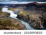 hafragilsfoss waterfall is part ... | Shutterstock . vector #1010093833