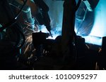 the movement of the robot... | Shutterstock . vector #1010095297