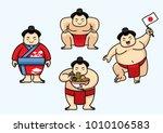 set of cute sumo japan character | Shutterstock .eps vector #1010106583