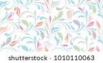 floral seamless pattern.... | Shutterstock .eps vector #1010110063