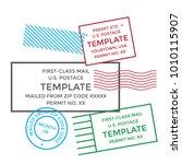 postal cancellation first class ... | Shutterstock .eps vector #1010115907