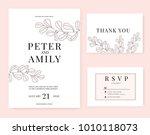 wedding invitation card... | Shutterstock .eps vector #1010118073