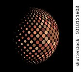 abstract globe dotted sphere ... | Shutterstock .eps vector #1010131603