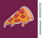 pizza vector illustration for... | Shutterstock .eps vector #1010154703