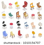 isometric chairs icon... | Shutterstock .eps vector #1010156707