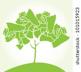 vector stylized tree | Shutterstock .eps vector #101015923