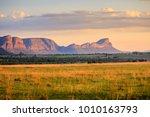 sunrise over the waterberg...   Shutterstock . vector #1010163793