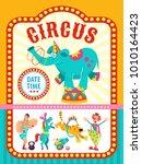 circus artist.  animals. poster ... | Shutterstock .eps vector #1010164423