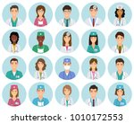 set of doctors and nurses... | Shutterstock .eps vector #1010172553