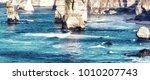rocks of the twelve apostles... | Shutterstock . vector #1010207743