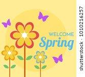 welcome spring illustration | Shutterstock .eps vector #1010216257