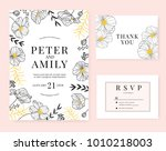 wedding invitation card with... | Shutterstock .eps vector #1010218003