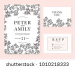 wedding invitation card with... | Shutterstock .eps vector #1010218333
