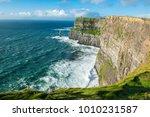 the cliffs of moher  irelands... | Shutterstock . vector #1010231587