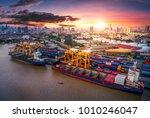 logistics and transportation of ... | Shutterstock . vector #1010246047
