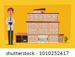 modern hospital. medical... | Shutterstock .eps vector #1010252617