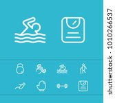 activities icons set with old...