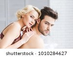 beautiful seductive young... | Shutterstock . vector #1010284627