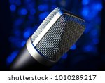 mike with a metal mesh covering ... | Shutterstock . vector #1010289217