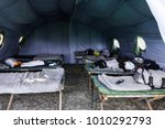 Military Tent With Camp Bed