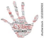 vector conceptual cyber... | Shutterstock .eps vector #1010300503
